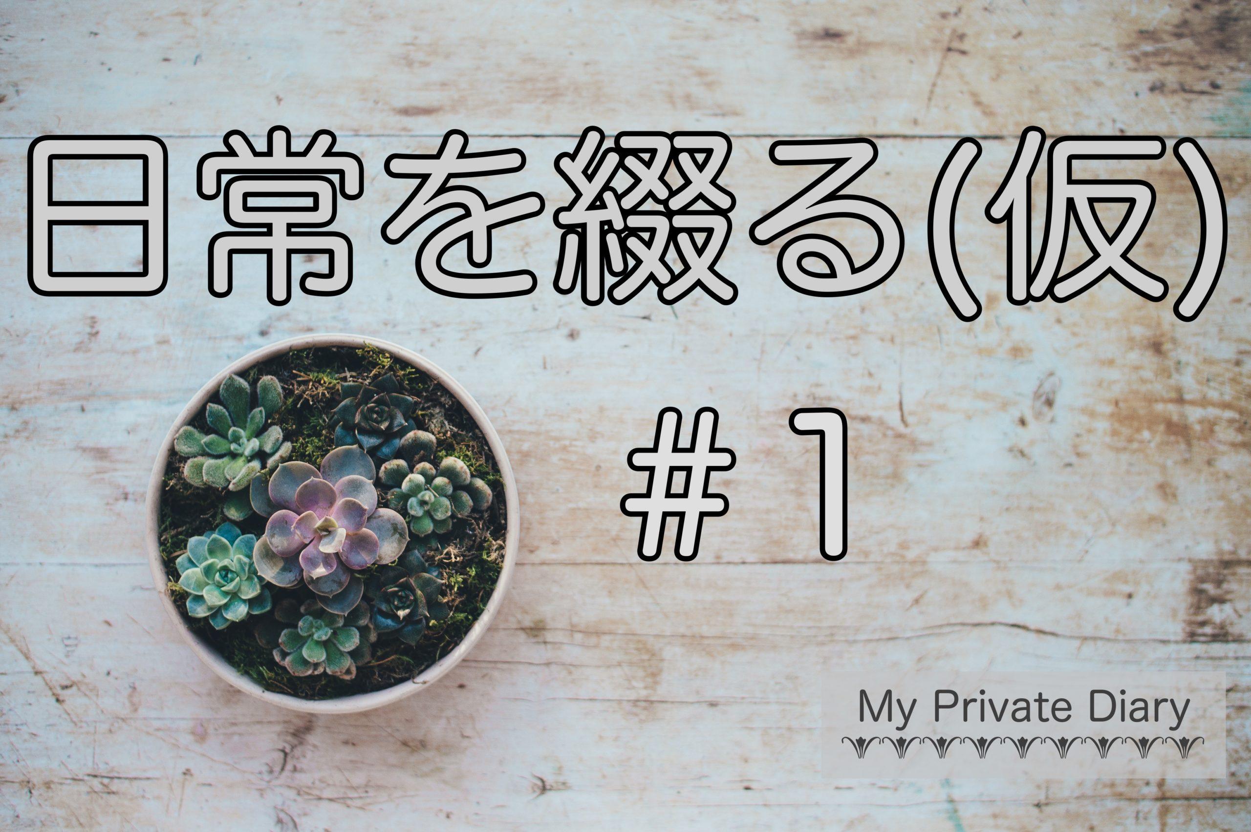 日常を綴る(仮)#1